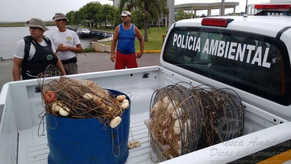 comando ambiental combate pesca predatoria no rio tramandai no RS 2