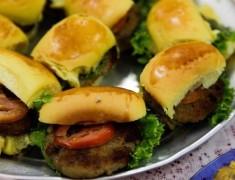 hamburger de tilapia na merenda