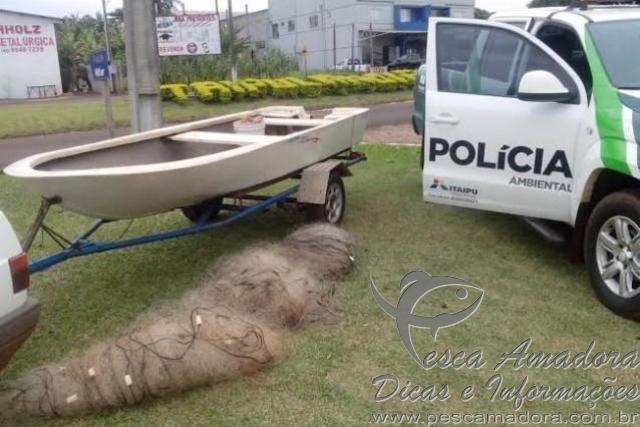 pma apreende 300m de redes e prende dois homens por pesca ilegal