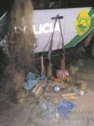 pma apreende material de caca e pesca no Parana