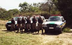 PMA de Minas Gerais em formção para realizar as falizações (Foto divulgação PMA)